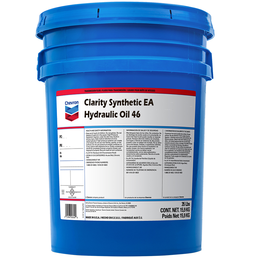 Chevron Clarity Synthetic Ea Hydraulic Oil 46 Scl