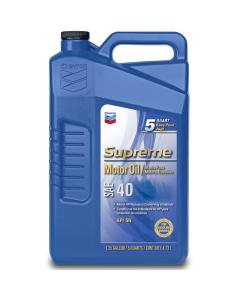 Chevron Supreme Motor Oil SAE 40