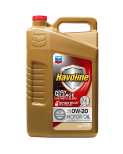 Havoline High Mileage Motor Oil SAE 0W-20