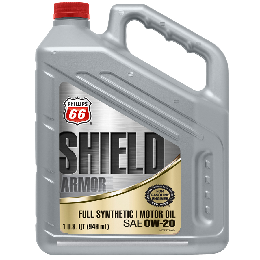 Best Synthetic Motor Oil >> Phillips 66 Shield Armor Full Synthetic 0W20 | SCL